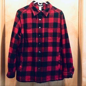 Duluth Trading Buffalo Check Flannel Shirt Jac